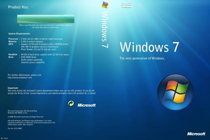 Microsoft For SP1 Windows 7 Professional 64 Bit Retail System Builder DVD Retail Pack