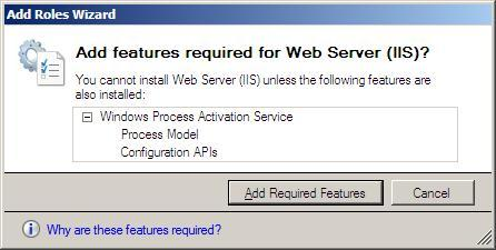 10 Steps to Installing the Web Server Role in Windows Server 2008 - 1