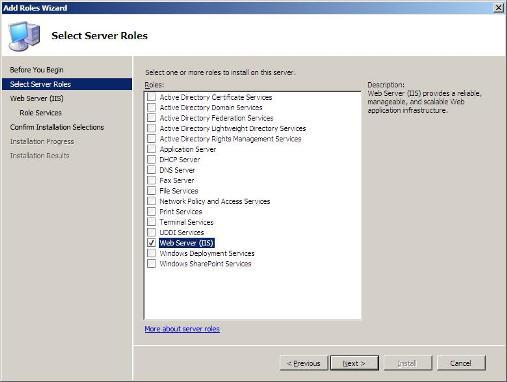 10 Steps to Installing the Web Server Role in Windows Server 2008 - 2