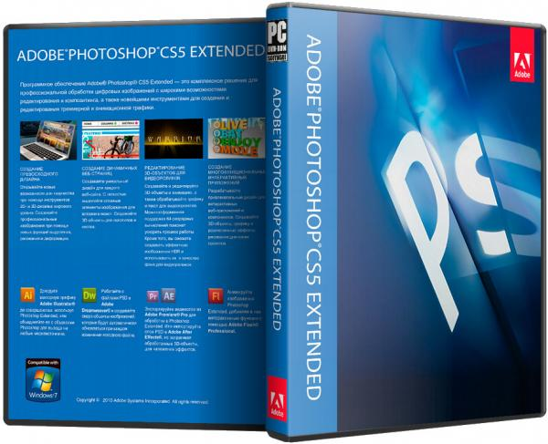 Adobe Photoshop CS5 Graphic Art Design Software Full Version Extended Retail Pack Activation