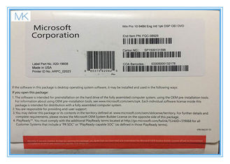 Cina 64 Bit Microsoft Windows 10 Operating System Builder OEM includes COA  Factory Sealed pemasok