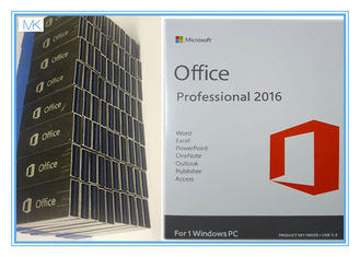 Cina OEM Microsoft Office Professional Plus 2016 Key , Windows Office Pro 2016 USB Flash Englsih pemasok