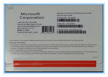 Cina 64Bit DVD Windows Server 2012 R2 Standard License , English Windows Server 2012 R2 Datacenter pabrik